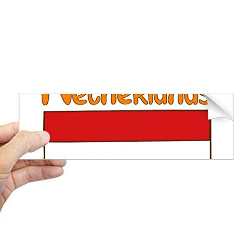 DIYthinker Nederland Nationale Vlag Patroon Rechthoek Bumper Sticker Notebook Window Decal