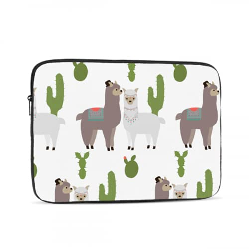 Mac Covers Cute Snow White Alpaca Lama with Cactus MacBook Pro Case 15 Multi-Color & Size Choices 10/12/13/15/17 Inch Computer Tablet Briefcase Carrying Bag
