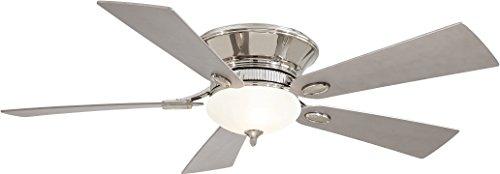 Minka-Aire F711-PN Minka Aire Two Light Hugger Ceiling Fan, Polished Nickel
