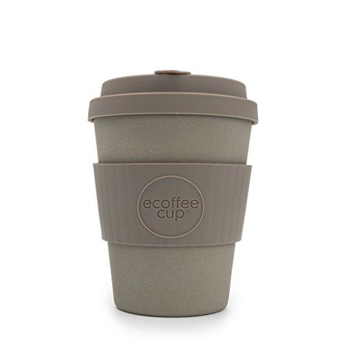 Ecoffee Cup 340ml Mehrweg-Becher/-Tasse mit Silikon-Deckel, hergestellt mit natürlichen Bambus-Fasern, verschiedene Farben Molto Grigio