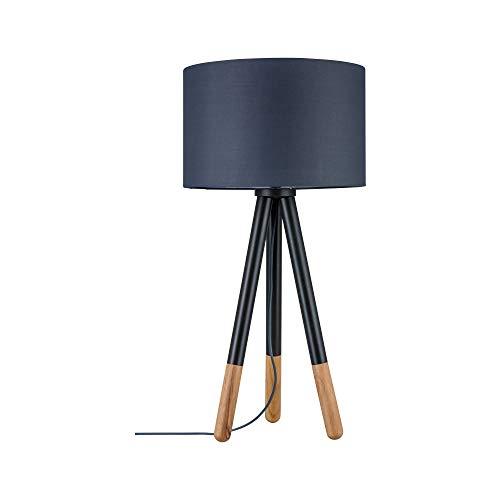 Paulmann 79635 Neordic Rurik Tischleuchte max. 1x20W Tischlampe für E27 Lampen Nachttischlampe Grau 230V Stoff/Metall/Holz ohne Leuchtmittel