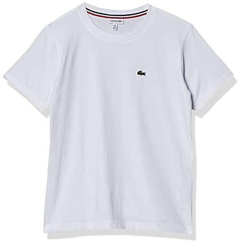 Camiseta Regular Fit Lacoste Branco, Meninos, 12