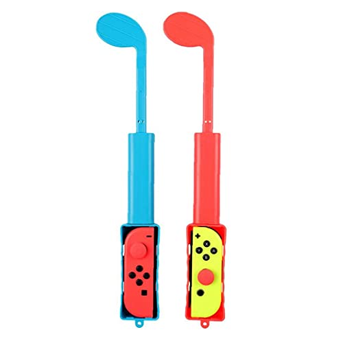 YepYes Golf Club Compatible con Nintendo Switch Club Hand Grip Game Component Blue Red 1pair