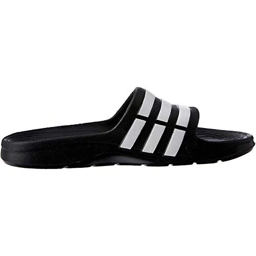 adidas Duramo Slide, Ciabatte Unisex Adulto, Nero (Black/White/Black), 42 EU (8 UK)