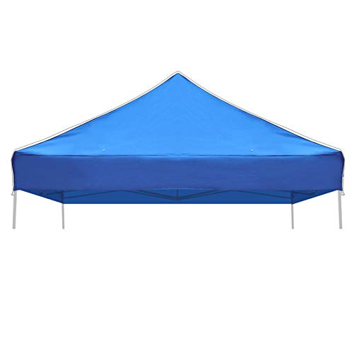 Strong Camel Ez pop Up Canopy Replacement Top Instant 10'X10' Gazebo EZ Canopy Cover Patio Pavilion Sunshade Polyester (Blue)