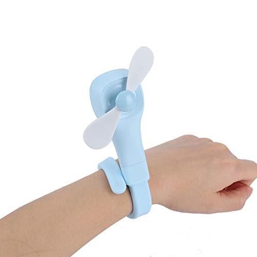 Wosune Ventilador de refrigeración, diseño Plegable Portátil Incluido Cable de Carga USB Mini Ventilador, Ventilador Flexible Carro de bebé para el hogar(Blue)