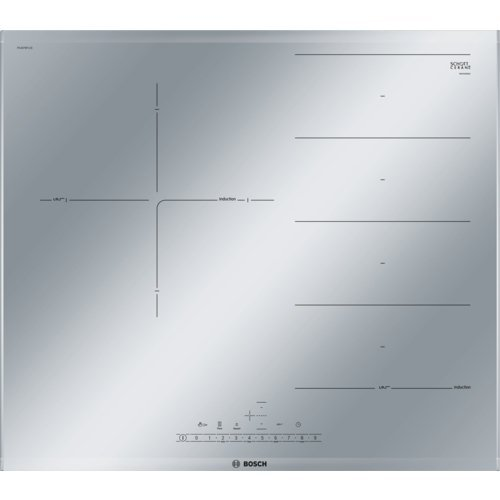 Bosch Serie 6 PXJ679FC1E Integrado Con - Placa (Integrado, Con placa de inducción, Gris, Metálico, LED, Tocar, Frente)