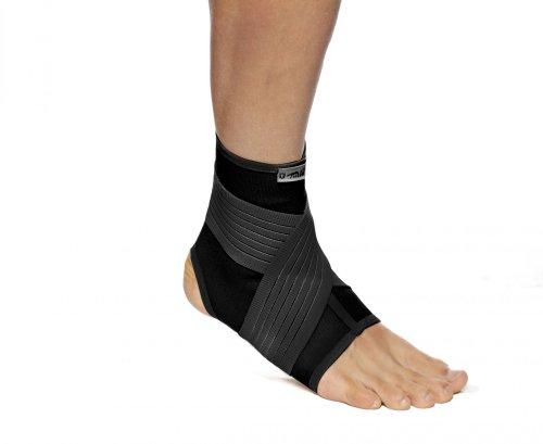 TURBO Med Knöchelbandage mit elastischer Mittelfußstütze SCHWARZ Gr. L TM363-L9