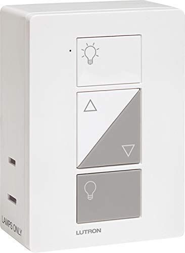 Lutron Caseta Smart Home Plug-in Lamp Dimmer Switch, Works with Alexa, Apple HomeKit, and The Google Assistant | PD-3PCL-WH | White