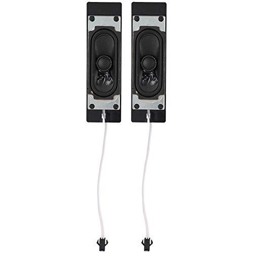 ASHATA 2 stuks 8 Ohm 10 Watt luidspreker spreker geluid versterker subwoofer luidspreker met kabelaansluiting voor LCD/TV/reclame/player zwart