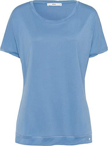 BRAX Caelen New Fluid T-Shirt, Blu (Water 24), 40 (Taglia Unica: 34) Donna
