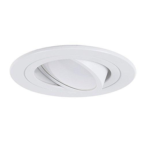 LED-Einbaustrahler rund | Einbauleuchte weiß | Einbauspot schwenkbar 3-fach dimmbar | Decken-Einbaustrahler universell einsetzbar | Einbaulampen modern | Deckenspot Switchmo + LED-Leuchtmittel
