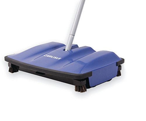 """Carlisle 3640014 Duo-Sweeper ABS Multi-Surface Floor Sweeper, 1/2"""" Length Brush, 8"""" Length x 12"""" Width x 2-1/2"""" Height, Blue"""
