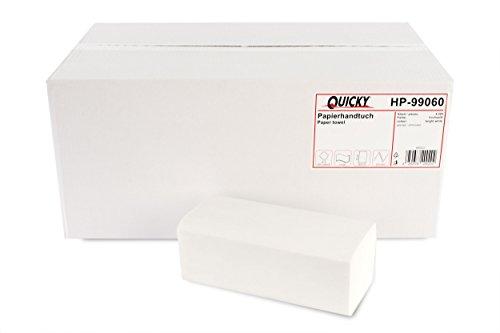 Quicky Papierhandtücher ZZ-Falz, 25 x 20,5 cm, hochweiß, 4000 Blatt