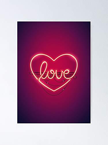 AZSTEEL Love Heart Neon Sign Poster