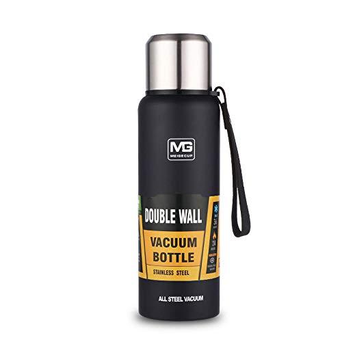 WENSISTAR Vakuum-Isolierte Isolierflasche ,Large Capacity Stainless Steel Vacuum Flask, Outdoor Portable Rope Insulation Pot@Navy_750,Sport Fitness Fahrrad Wasserflasche