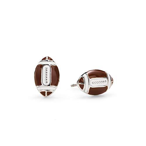 GIMMEDAT Football Enamel Post Earrings Jewelry Sport Fan Women Girl Mom Gift