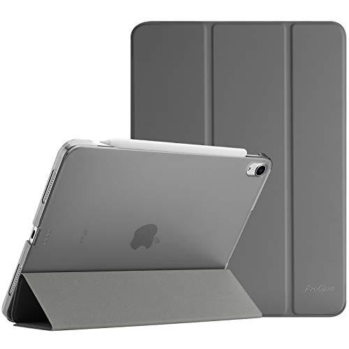 ProCase Hülle für iPad Air 4 Generation 10.9 Zoll 2020, Schutzhülle Case(Unterstützt 2. Gen iPencil Aufladen), Ultra Dünn Leicht Ständer Schal Smart Cover mit Transluzent Frosted Rück –Grau