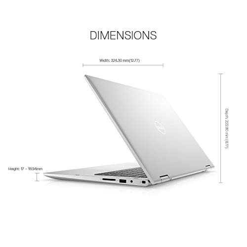 Dell Inspiron 5406 11th Gen 14inch FHD 2in1 Laptop( i3-1115G4 / 4GB / 512 SSD / Integrated Graphics/ Win 10/ MS Office 19/ Active Pen/Platinum Silver),D560366WIN9S