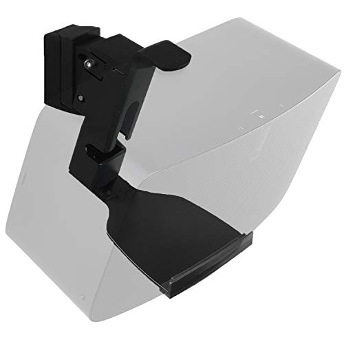WALI SONOS - Soporte de Pared para Altavoces SONOS Play 5 (múltiples ajustes, hasta 7 kg, SWM002), Color Negro