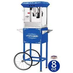 Amazing Deal MISC Blue 8-oz Foundation Popcorn Machine and Cart Glass