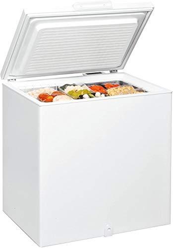 Whirlpool - Congelador horizontal WHS 2121 blanco, tecnología congelamiento rápido, 86.5 x 80.6 x 64.2 cm, eficiencia NEL F