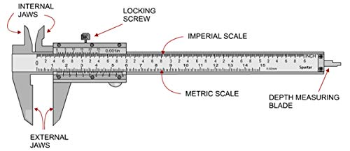6 Inch/150mm Stainless Steel Vernier Caliper Micrometer Durable Stainless Steel Measuring Tool Caliper for Precision Measurements Working Stable