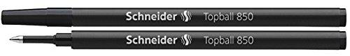 Schneider® Tintenroller Topball 850schwarz 0,5mm Tintenroller-Nachfüllminen, 2/Pk