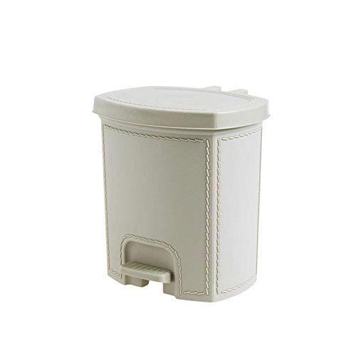 Poubelle- Poubelle en plastique avec couvercle, poubelle mince pour pédale, déchets de bureau pour déchets de toilettes de cuisine