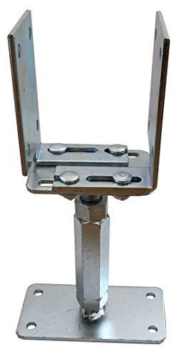 U-Pfostenträger verstellbar Höhe 160-220 Breite 80-160 mm von Gartenpirat®