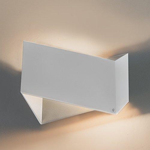 QAZQA Design Applique Murale design blanc - Fold Aluminium Argenté,Blanc Autres G9 Max. 1 x 40 Watt/Luminaire/Lumiere/Éclairage/intérieur/Salon/Cuisine