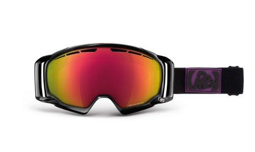 K2 Captura Ski Goggles, Black Virtue/Gray/Red Octic Mirror