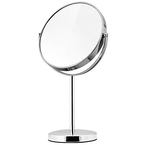 6 pouces de maquillage permanent des deux côtés des miroirs 1x, 3x grossissement hôtel 360 miroirs tournants simulation vanité miroir