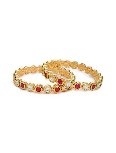 Traditionelles indisches Kada-Armreif, indisches Kundan-Armreif, Brautschmuck, Kada-Armreif, indisches Schmuck-Set.