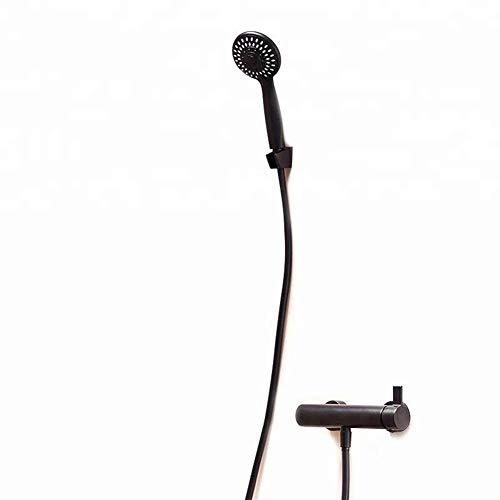 DONDOW Sistema de Ducha, Cabeza de ducha de mano Kit de bañera Ducha de mano Negro cabeza de ducha Flushing Set de ducha del cuarto de baño (bañera y ducha tipo de grifo: Dentro de la pared Grifería D