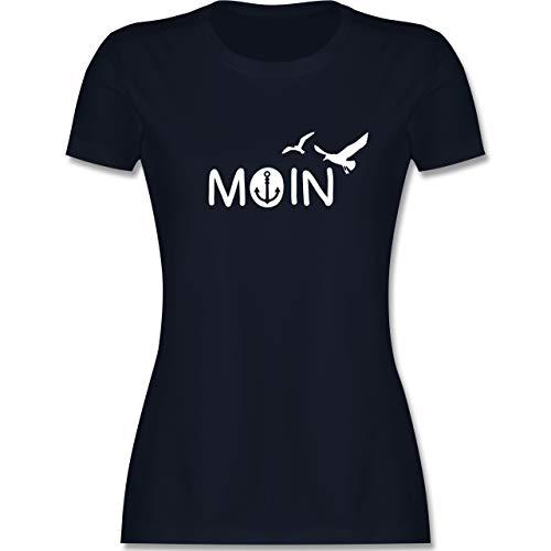 Statement - Moin - XL - Navy Blau - Shirt+Moin+Damen - L191 - Tailliertes Tshirt für Damen und Frauen T-Shirt