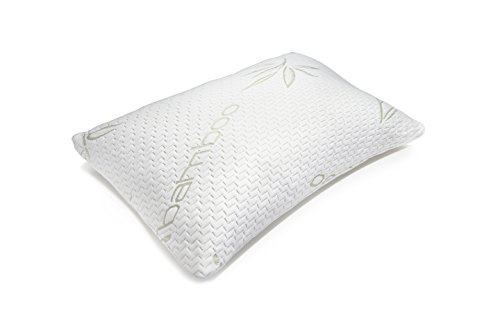 Hotel Comfort Adjustable Memory Foam Pillow | Prestige Collection Ultra Cool Hypoallergenic Bamboo/Poly Washable Cover | Queen Size