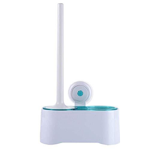 Toiletborstel en houder zuignap wand-WC Set Badkamer met Base Rack