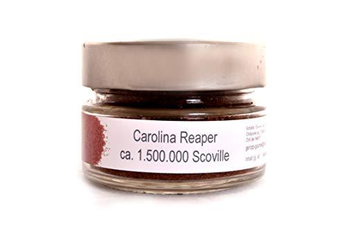 Carolina Reaper Chili Pulver | Schärfster Chili der Welt: 1,5 Millionen Scoville, 40g im wiederverschließbaren Gläschen