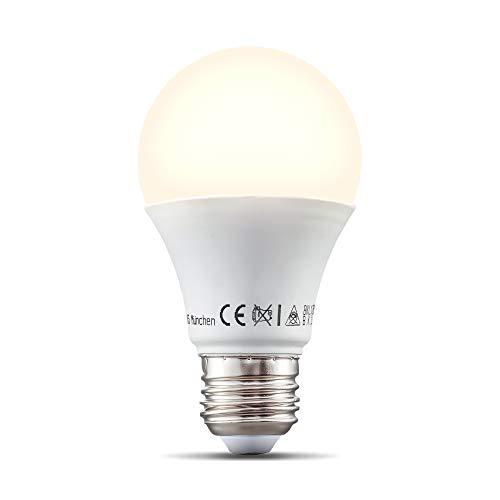 B.K.Licht I LED E27 Wi-Fi Lampe I 9 Watt I 806 Lumen I 2.700K Warmweiß I Dimmbar I App- Sprachsteuerung I Alexa Google Home I iOS & Android I WLAN Glühbirne I Smartes Leuchtmittel
