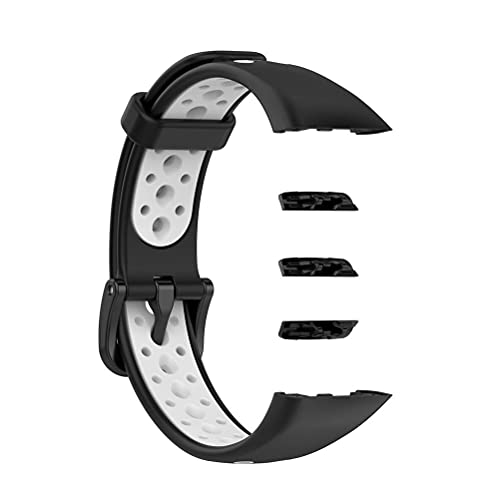 Lybring Correa de repuesto compatible para Huawei Band 6/Honor Band 6, TPU impermeable correa de reloj correa de doble color para Huawei Band 6/Honor Band 6