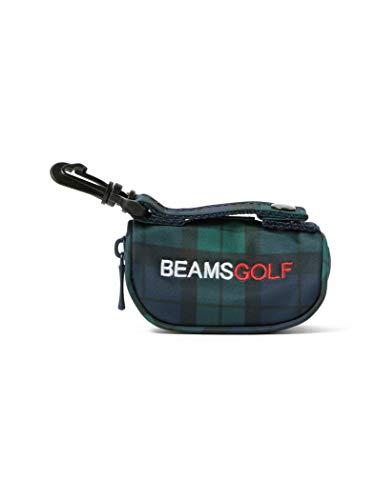 [ビームスゴルフ] ポーチ ボールケース ブラックウォッチ メンズ B/W