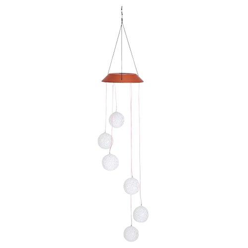 Carillon de Vent Changeant de Couleur Carillon LED Solaire Extérieur Imperméable à Eau Mobile Carillonpour Fête Maison Décoration de Jardin Nuit