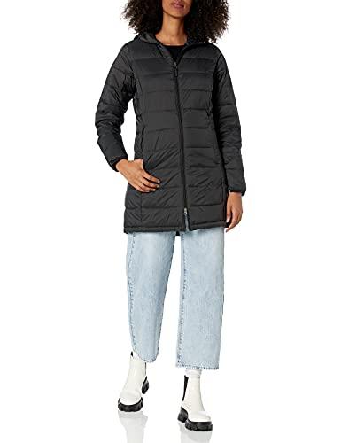 Amazon Essentials - Abrigo acolchado para mujer, plegable, ligero y resistente al agua, Negro (black), US M (EU M - L)