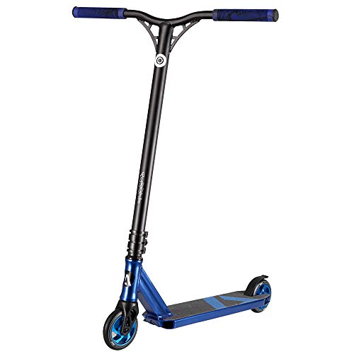 Albott Pro Stunt Scooters Freestyle Trick Scooter with CNC 6061-T6 Aluminum Fork 25 Inches Long Bar Beginner to Intermediate Durable Kick Scooter for Kids 8 Years and Up,Teens, Boys,Adults (Blue)