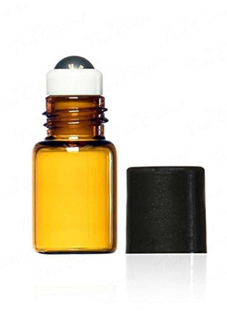 彼らは試す発音するTrue Essence 3 ml, 3/4 Dram Amber Glass Mini Roll-on Glass Bottles with Metal Roller Balls - Refillable Aromatherapy Essential Oil Roll On (12) [並行輸入品]