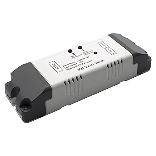 KU Syang Interruptor InaláMbrico de Control Remoto Wifi Inteligente, MóDulo Universal, Temporizador de Interruptor Wifi Entre Bloqueo para Abridor de Puerta de Garaje, 7-32 V