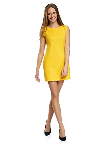 Vestido amarillo corto de mujer