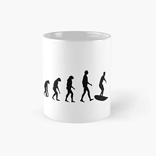 Evolution Surf Classic Taza de café con diseño de evolución, 325 ml