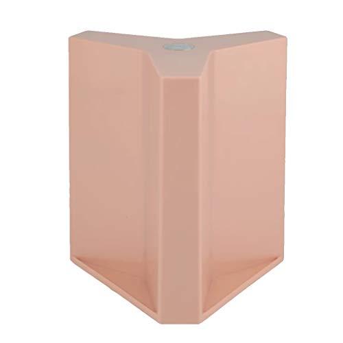 JSY Magnetische magnetische magneet steen schotel mes plank Nordic desktop storage keuken IKEA gereedschaphouder Lege messenblokken (Color : Pink)